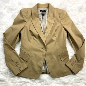 Body by Victoria Secret Blazer Jacket Fitted Khaki